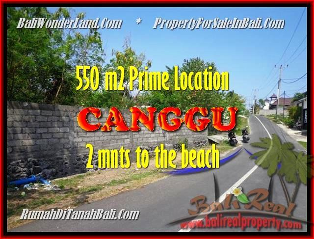 Exotic PROPERTY 550 m2 LAND FOR SALE IN CANGGU TJCG159