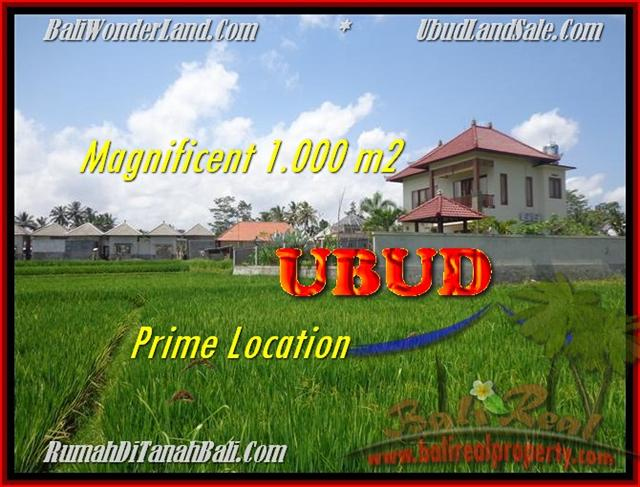Magnificent PROPERTY 1.000 m2 LAND FOR SALE IN UBUD BALI TJUB445