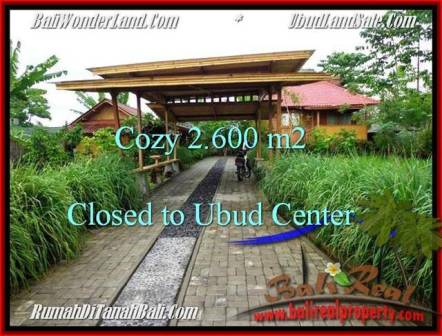 FOR SALE Beautiful PROPERTY 2,600 m2 LAND IN UBUD BALI TJUB491