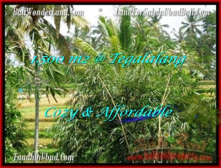 Exotic PROPERTY UBUD BALI 1,500 m2 LAND FOR SALE TJUB489