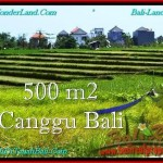 Magnificent CANGGU 500 m2 LAND FOR SALE TJCG192