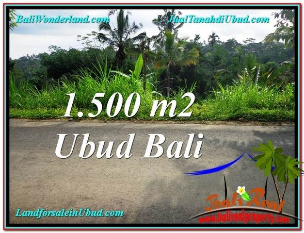 Exotic 1,500 m2 LAND IN UBUD BALI FOR SALE TJUB556