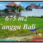 Exotic PROPERTY CANGGU BALI 675 m2 LAND FOR SALE TJCG200