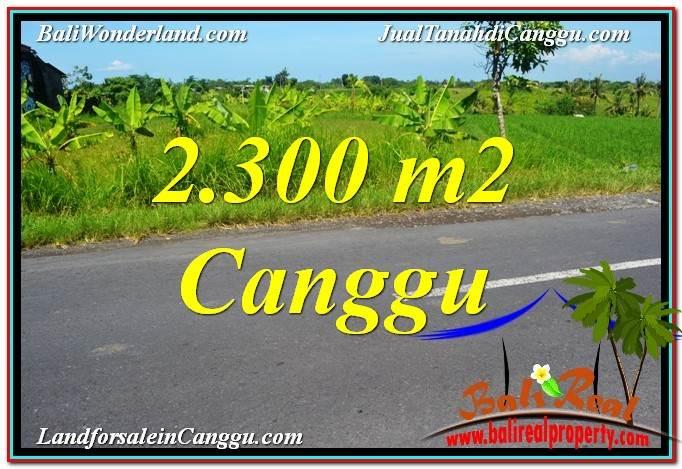 Exotic PROPERTY CANGGU BALI 2,300 m2 LAND FOR SALE TJCG209