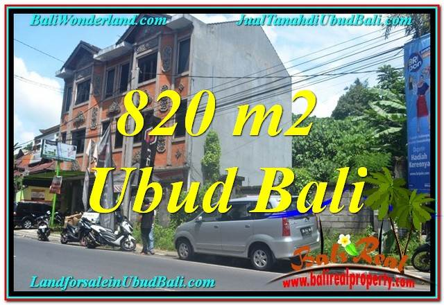 Beautiful PROPERTY 820 m2 LAND SALE IN Sentral / Ubud Center TJUB643