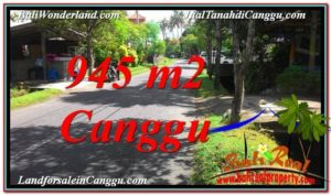 Magnificent PROPERTY CANGGU BALI 945 m2 LAND FOR SALE TJCG210