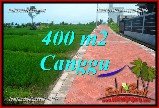 FOR SALE Exotic PROPERTY 400 m2 LAND IN Canggu Pererenan TJCG219