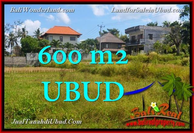 Exotic PROPERTY 600 m2 LAND SALE IN UBUD BALI TJUB664