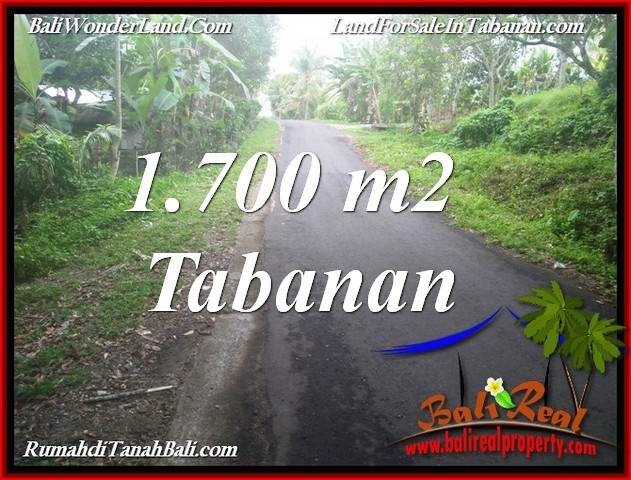 Magnificent 1,700 m2 LAND SALE IN TABANAN BALI TJTB385