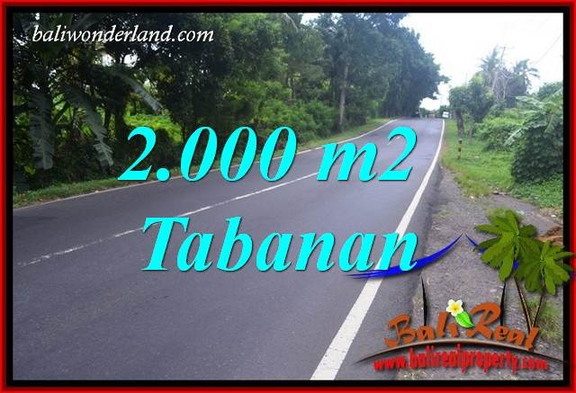 Affordable 2,000 m2 Land for sale in Tabanan Selemadeg Bali TJTB398