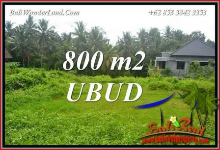Magnificent Property Sentral Ubud Bali 800 m2 Land for sale TJUB706