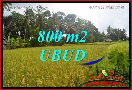 Beautiful 800 m2 Land in Sentral Ubud Bali for sale TJUB707