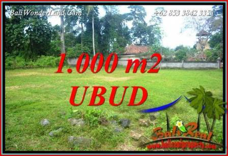 FOR sale Beautiful 1,000 m2 Land in Ubud Bali TJUB728