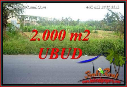 Exotic Property 2,000 m2 Land for sale in Ubud Kemenuh Bali TJUB737