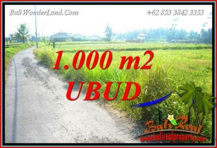 Affordable Property 1,000 m2 Land in Ubud Pejeng Bali for sale TJUB739