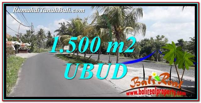 FOR SALE Exotic PROPERTY 1,500 m2 LAND IN Ubud Gianyar TJUB758