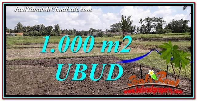 FOR SALE Magnificent PROPERTY 1,000 m2 LAND IN Sentral Ubud TJUB765