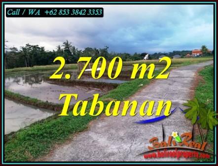 FOR SALE Cheap property 2,700 m2 LAND IN SELEMADEG TABANAN BALI TJTB460